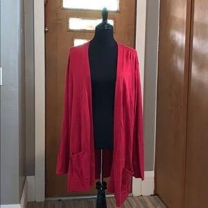 Croft & barrow long sleeved red cardigan!
